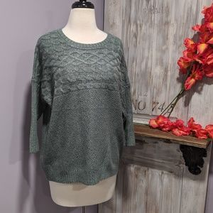 The Limited blue/green 3/4 sleeve sweater